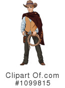 Royalty-Free (RF) cowboy Clipart Illustration #1099815
