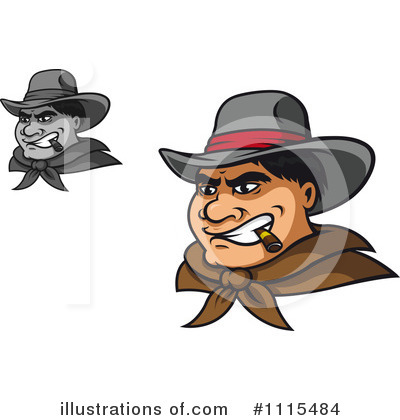 Cowboy Clipart #1115484 by Vector Tradition SM