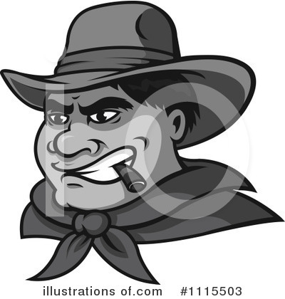 Cowboy Clipart #1115503 by Vector Tradition SM