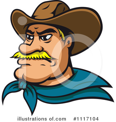 Cowboy Clipart #1117104 by Vector Tradition SM