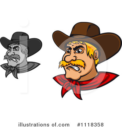 Cowboy Clipart #1118358 by Vector Tradition SM