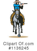 Royalty-Free (RF) Cowboy Clipart Illustration #1136245