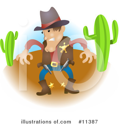 Cowboy Clipart #11387 by AtStockIllustration