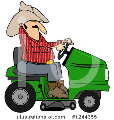 Lawn Mower Clipart #1244355 by djart