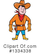 Royalty-Free (RF) Cowboy Clipart Illustration #1334338