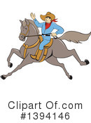 Royalty-Free (RF) Cowboy Clipart Illustration #1394146