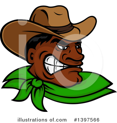 Cowboy Clipart #1397566 by Vector Tradition SM