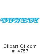 Royalty-Free (RF) Cowboy Clipart Illustration #14757