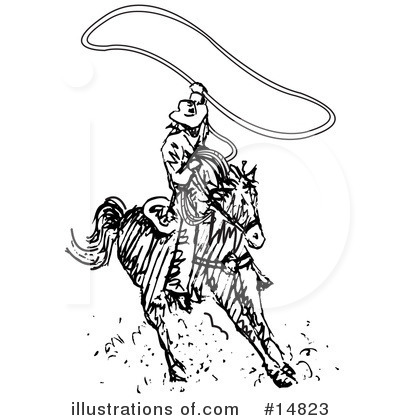 Cowboy Clipart #14823 by Andy Nortnik