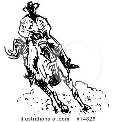 Cowboy Clipart #14826 by Andy Nortnik