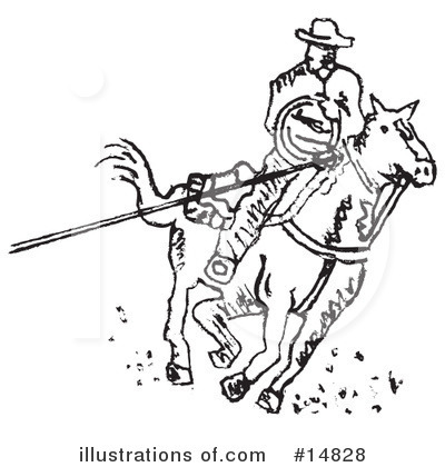 Cowboy Clipart #14828 by Andy Nortnik