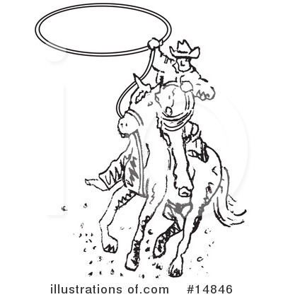 Cowboy Clipart #14846 by Andy Nortnik
