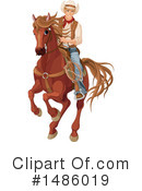 Cowboy Clipart #1486019 by Pushkin