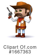 Cowboy Clipart #1667363 by Steve Young