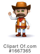 Cowboy Clipart #1667365 by Steve Young
