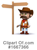 Cowboy Clipart #1667366 by Steve Young