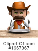Cowboy Clipart #1667367 by Steve Young