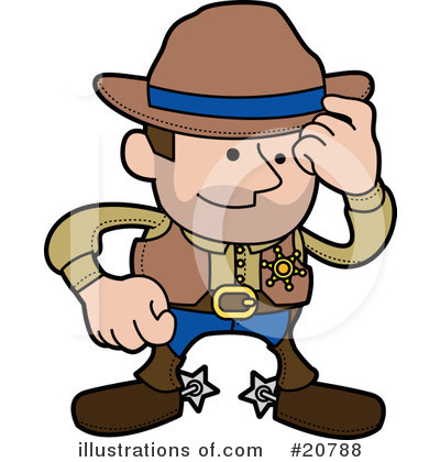 Cowboy Clipart #20788 by AtStockIllustration