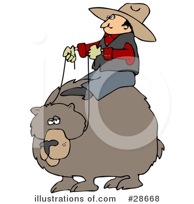 Royalty-Free (RF) Cowboy Clipart Illustration by Dennis Cox - Stock Sample #28668