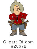 Royalty-Free (RF) cowboy Clipart Illustration #28672