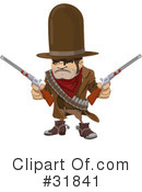 Royalty-Free (RF) Cowboy Clipart Illustration #31841