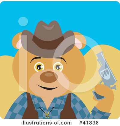 Royalty-Free (RF) Cowboy Clipart Illustration by Dennis Holmes Designs - Stock Sample #41338