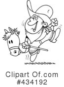 Cowboy Clipart #434192 by toonaday