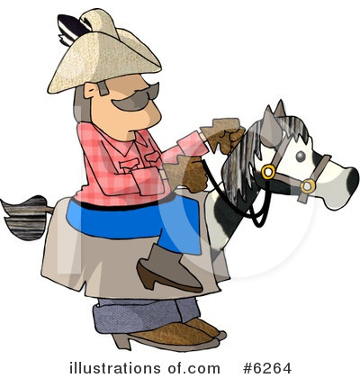 Royalty-Free (RF) Cowboy Clipart Illustration by djart - Stock Sample #6264