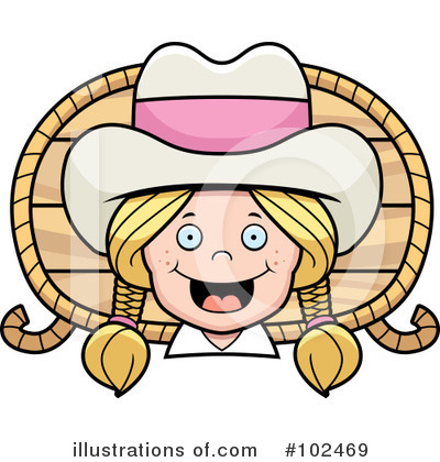 Cowgirl Clipart #102469 by Cory Thoman