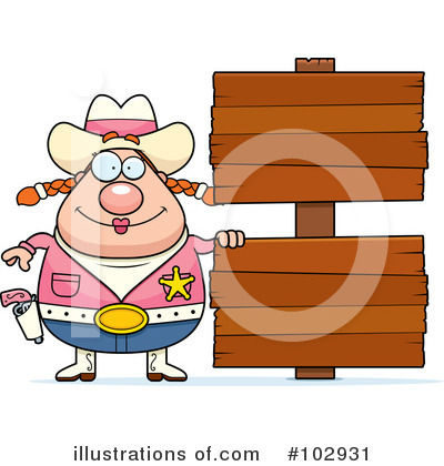 Cowgirl Clipart #102931 by Cory Thoman