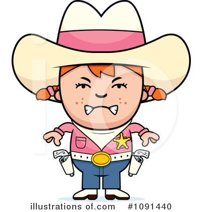 Cowgirl Clipart #1091440 by Cory Thoman