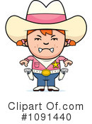 Royalty-Free (RF) Cowgirl Clipart Illustration #1091440