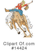 Royalty-Free (RF) Cowgirl Clipart Illustration #14424