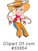 Cowgirl Clipart #33954 by Maria Bell