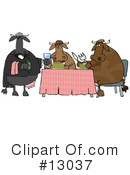 Royalty-Free (RF) Cows Clipart Illustration #13037