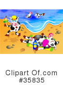 Royalty-Free (RF) Cows Clipart Illustration #35835