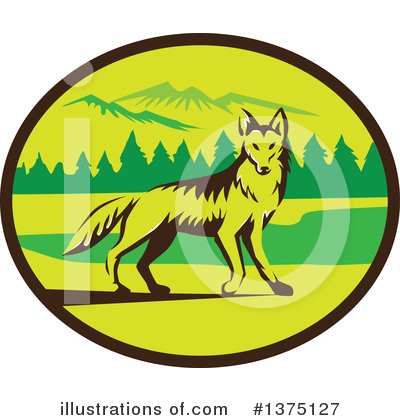 Coyote Clipart #1375127 by patrimonio