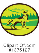 Royalty-Free (RF) Coyote Clipart Illustration #1375127