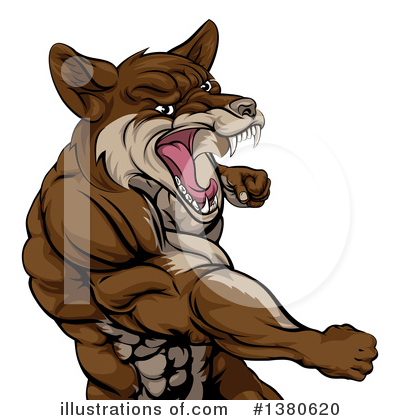 Royalty-Free (RF) Coyote Clipart Illustration by AtStockIllustration - Stock Sample #1380620