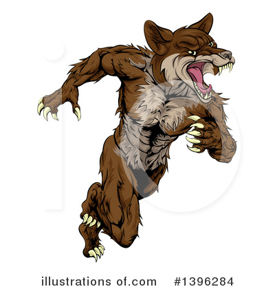 Wolf Clipart #1396284 by AtStockIllustration