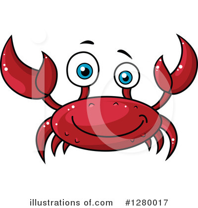 Crab Clipart #1280017 by Vector Tradition SM