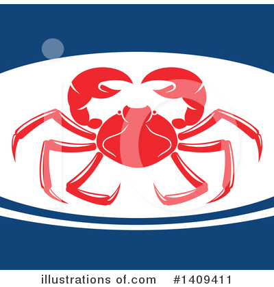 Crab Clipart #1409411 by Vector Tradition SM
