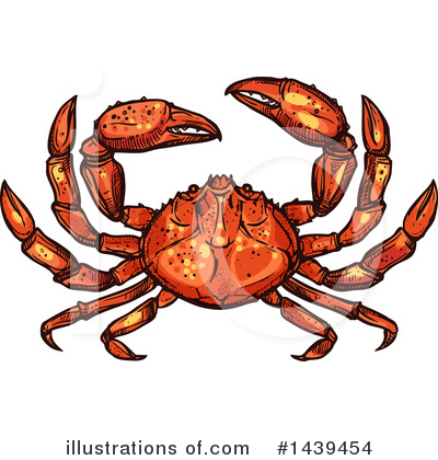 Crab Clipart #1439454 by Vector Tradition SM