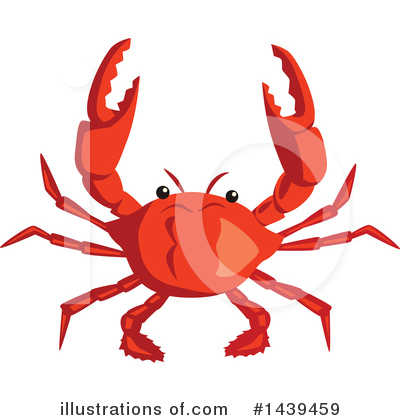 Royalty-Free (RF) Crab Clipart Illustration by Vector Tradition SM - Stock Sample #1439459