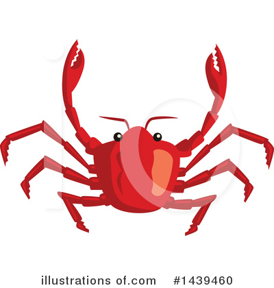 Crab Clipart #1439460 by Vector Tradition SM