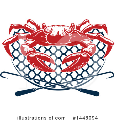 Crab Clipart #1448094 by Vector Tradition SM