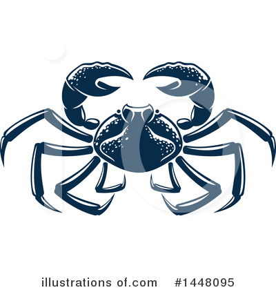 Crab Clipart #1448095 by Vector Tradition SM