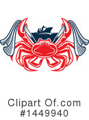 Crab Clipart #1449940 by Vector Tradition SM