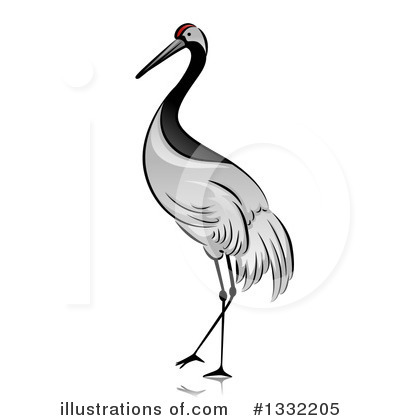 Crane Bird Clipart #1332205 by BNP Design Studio