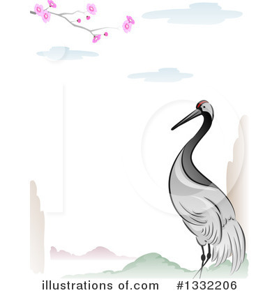Royalty-Free (RF) Crane Bird Clipart Illustration by BNP Design Studio - Stock Sample #1332206